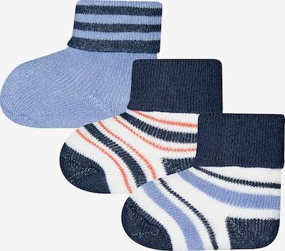 SANETTA Socken in rauchblau / dunkelblau / dunkelorange, Produktansicht