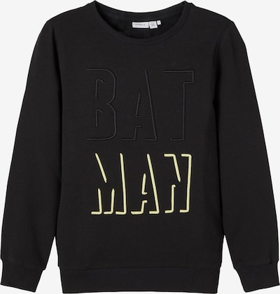 NAME IT Sweatshirt 'Batman' in hellgelb / schwarz, Produktansicht