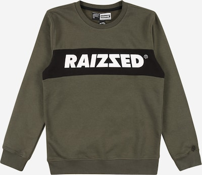 Raizzed Sudadera 'Novato' en caqui / negro / blanco, Vista del producto