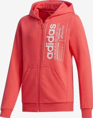 ADIDAS PERFORMANCE Athletic Zip-Up Hoodie in Pink