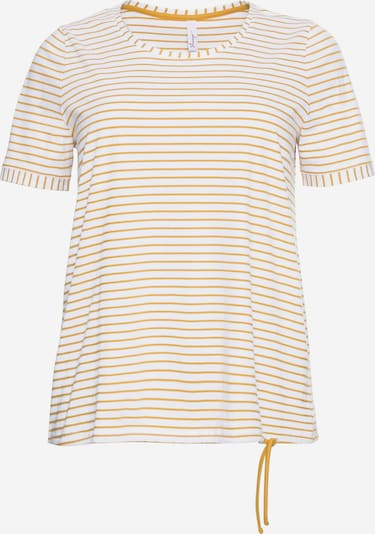 Tricou SHEEGO pe galben muștar / alb, Vizualizare produs