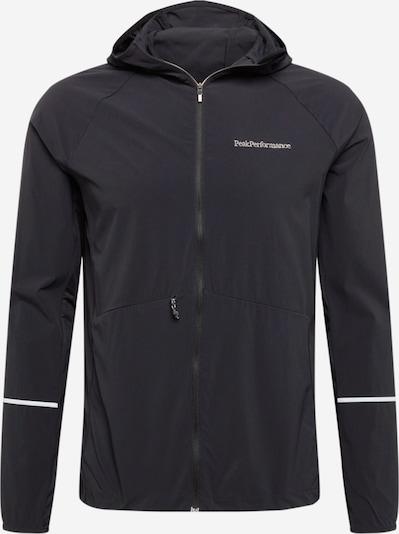 PEAK PERFORMANCE Veste outdoor 'Alum' en noir / blanc, Vue avec produit