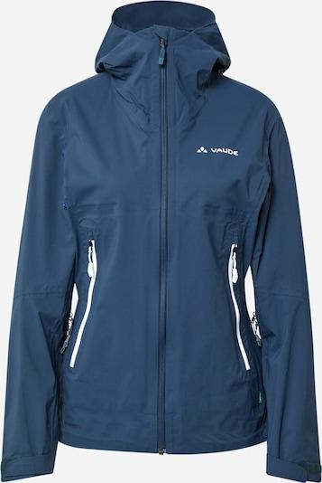 VAUDE Outdoorjas 'Simony' in de kleur Donkerblauw / Wit, Productweergave