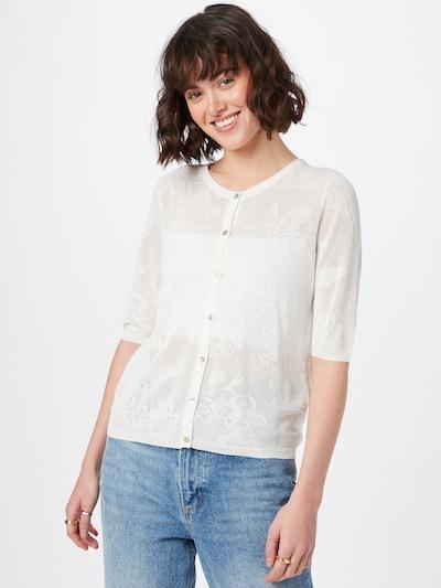 OVS Adīta jaka, krāsa - balts, Modeļa skats