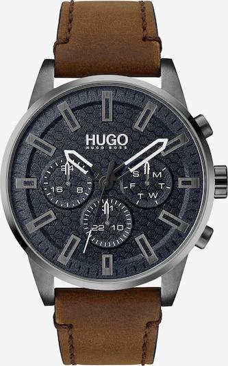 HUGO Uhr in braun / silber, Produktansicht