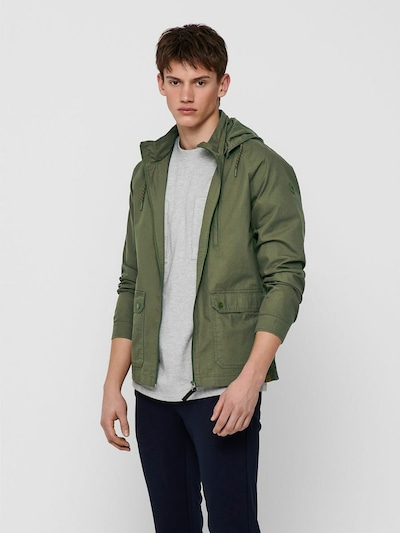 Only & Sons Jacke in oliv: Frontalansicht