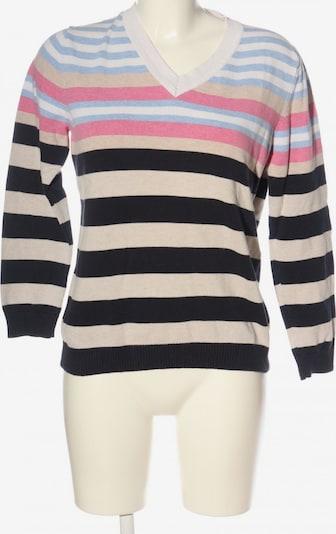 Donnell V-Ausschnitt-Pullover in L in pink / schwarz / wollweiß, Produktansicht