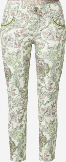 Pantaloni 'Naomi' MOS MOSH pe verde / roz / alb, Vizualizare produs