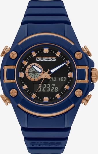 GUESS Digitaluhr in dunkelblau / bronze, Produktansicht