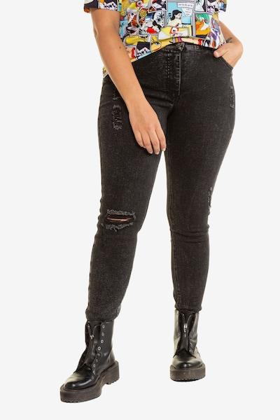Studio Untold Jeans in schwarz, Modelansicht