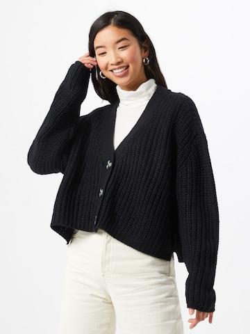 Urban Classics Knitted Coat in Black
