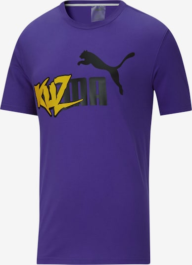 PUMA T-Shirt en jaune / violet / noir, Vue avec produit