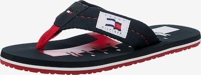 TOMMY HILFIGER Žabky - námořnická modř / červená / bílá, Produkt