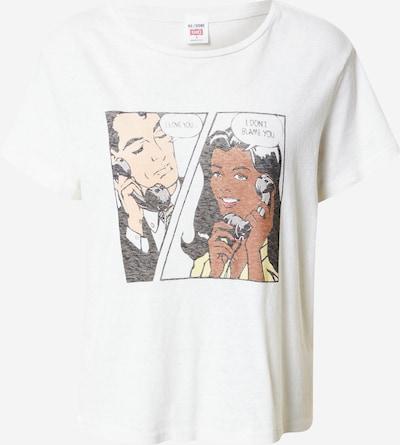 RE/DONE T-Krekls, krāsa - kails / brūns / dzeltens / melns / balts, Preces skats