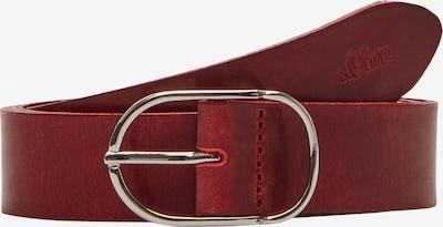 s.Oliver Ceinture en rouge foncé, Vue avec produit