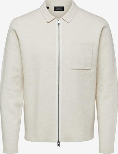 SELECTED HOMME Strickjacke in weiß, Produktansicht
