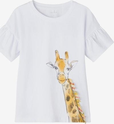 NAME IT T-Shirt 'Jali' in hellorange / schwarz / weiß, Produktansicht