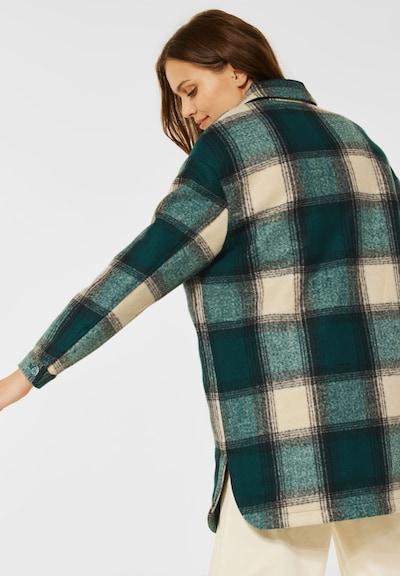 CECIL Overshirt in dunkelgrün / mischfarben / naturweiß, Modelansicht