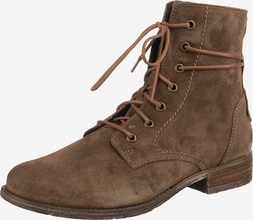JOSEF SEIBEL Lace-Up Ankle Boots 'Sienna' in Brown
