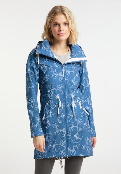 Schmuddelwedda Mantel in blau / weiß, Modelansicht