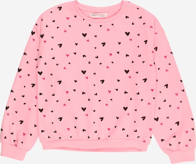 MINOTI Sweat-shirt en rose / rose clair / noir, Vue avec produit