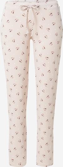 ETAM Панталон пижама 'FEDO' в кафяво / пудра / бяло, Преглед на продукта