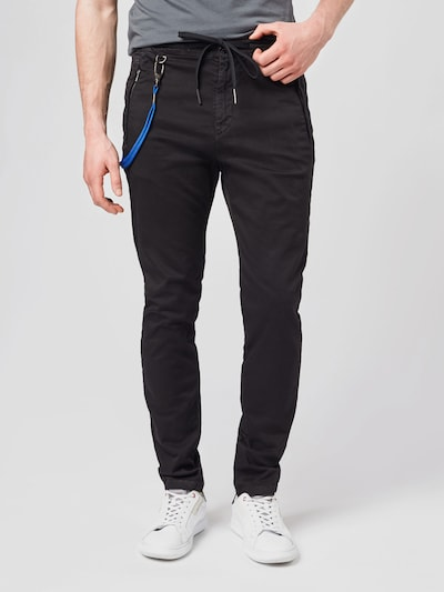REPLAY Pantalon en noir, Vue avec modèle