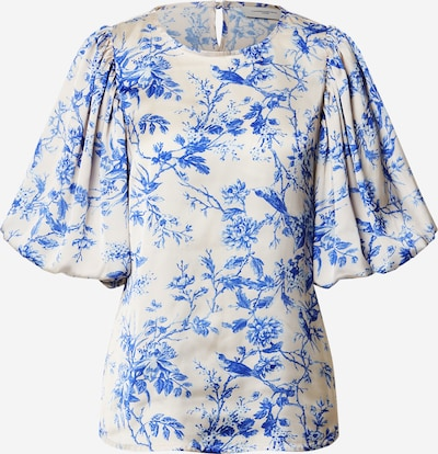 Copenhagen Muse Blouse 'MAE-BL' in Royal blue / White, Item view