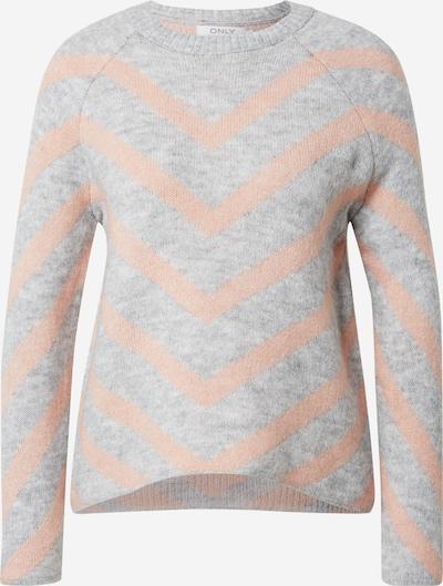 ONLY Пуловер 'LELIZA' в светлосиво / кайсия, Преглед на продукта