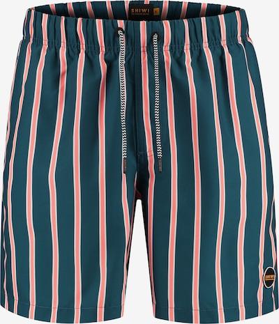 Shiwi Kratke kopalne hlače 'urban stripe' | modra / oranžno rdeča barva, Prikaz izdelka