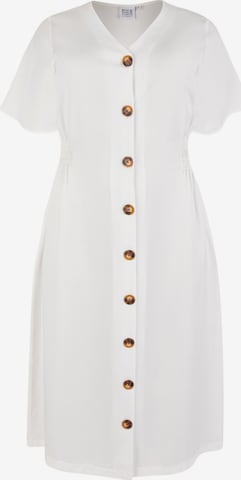 Rock Your Curves by Angelina K. Shirt Dress in White