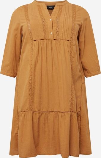 Zizzi Skjortklänning 'MAUSTIN' i brun, Produktvy