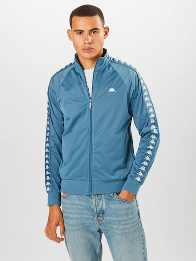 KAPPA Jacke 'GAMBRU' in blau / weiß: Frontalansicht
