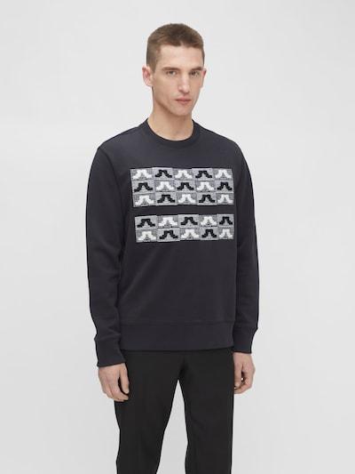 J.Lindeberg Sweatshirt 'Hurl' in de kleur Zwart / Wit: Vooraanzicht