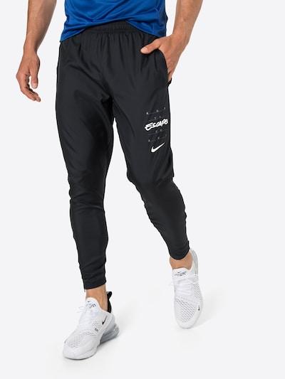 fekete / fehér NIKE Sportnadrágok 'Essential', Modell nézet