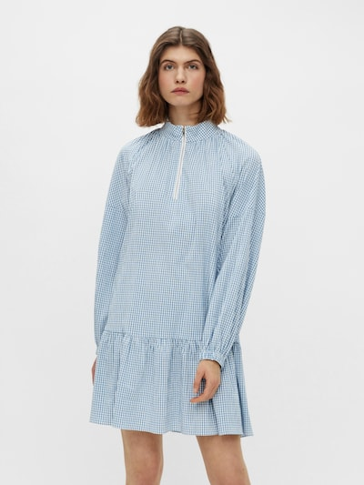 PIECES Kleid 'Cade' in blau / weiß, Modelansicht