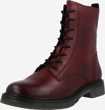 bugatti Lace-Up Ankle Boots 'Modena' in Red