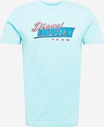 DIESEL T-Shirt 'T-DIEGOS-K37' in royalblau / mint / pastellpink / schwarz, Produktansicht