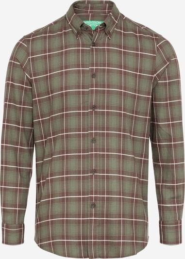UNITED COLORS OF BENETTON Hemd in khaki / pastellrot, Produktansicht