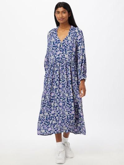 Noa Noa Kleid 'GEORGETTE' in blau / weiß, Modelansicht
