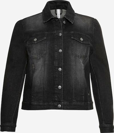 SHEEGO Jacke in black denim, Produktansicht