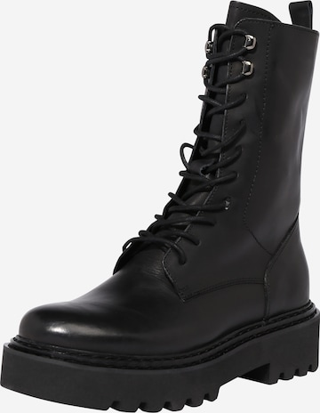 PS Poelman Lace-Up Ankle Boots in Black