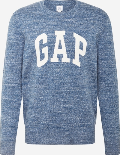 GAP Sweater 'INTARSIA' in Blue mottled / White, Item view