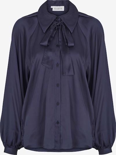 ECHTE Bluse 'Bow' in blau, Produktansicht