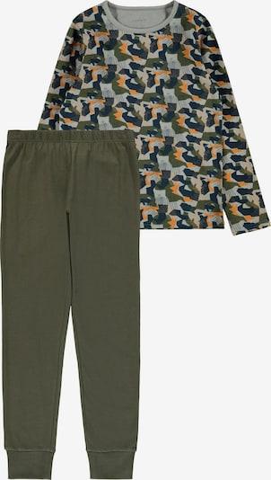 NAME IT Schlafanzug en navy / grau / khaki / orange, Vue avec produit