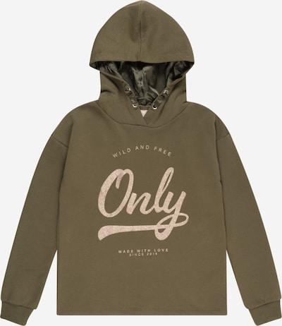 KIDS ONLY Sweatshirt 'WENDY' in de kleur Goudgeel / Kaki, Productweergave