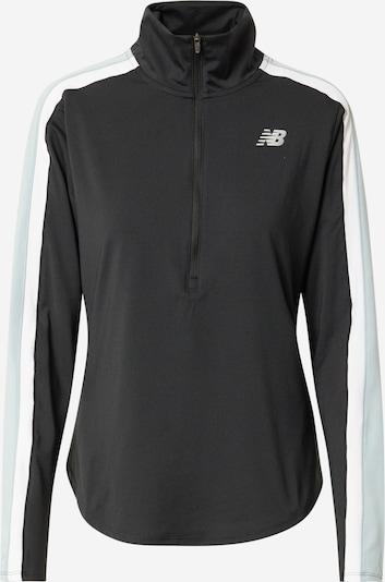 new balance Sportief sweatvest in de kleur Azuur / Zwart / Wit, Productweergave