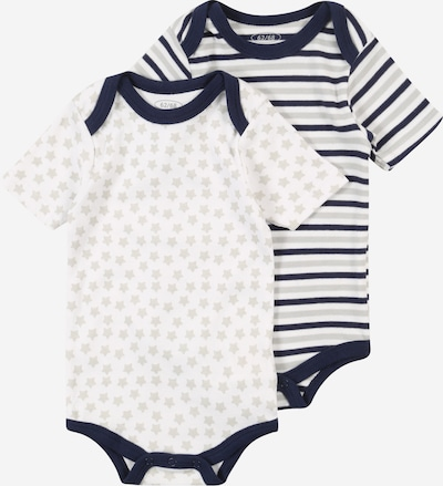 PLAYSHOES Romper/bodysuit in Navy / Light grey / Nature white, Item view