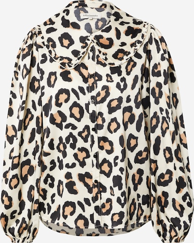 Lollys Laundry Bluse 'Luke' in beige / braun / schwarz, Produktansicht