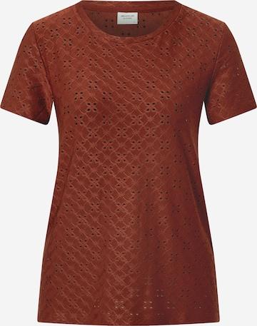 JDY T-shirt 'Cathinka' i brun